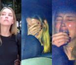 Żona Johnny'ego Deppa popłakała się po wyjściu z sądu!