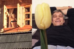 """Michał Żebrowski pokazał nagie zdjęcie żony! """"Wieszamy flagę"""" (FOTO)"""