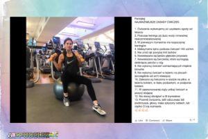 Ciężarna Lewandowska ćwiczy na siłowni (FOTO)