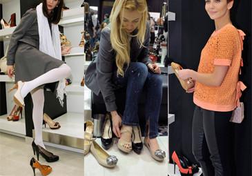 Celebrytki przymierzają buty... (FOTO)