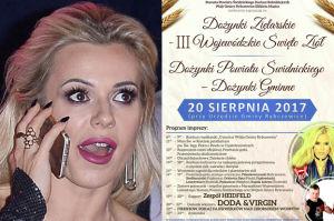 """Doda została gwiazdą... DOŻYNEK ZIELARSKICH nad """"zbiornikiem wodnym"""" w Rybczewicach! (FOTO)"""