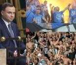 Kibice Legii i Lecha wspólnie wygwizdali prezydenta Andrzeja Dudę!