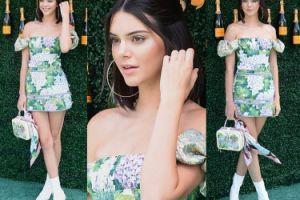 Kendall Jenner w białych kozaczkach pozuje z szampanem (ZDJĘCIA)
