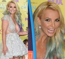 Britney Spears z tęczowymi włosami na ściance!