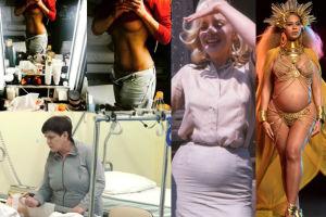 ZDJĘCIA TYGODNIA: pierś Lady Rozenek, Szydło w szpitalu i ciężarna Monroe