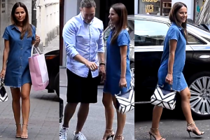 Sykut w wysokich szpilkach i krótkiej sukience… w 8. miesiącu ciąży!
