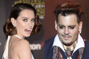 """53-letni Depp podrywa na planie 24-letnią Daisy Ridley! """"Nie przywykł do odmowy"""""""