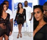 Kanye West i biust Kim Kardashian na gali MTV (ZDJĘCIA)