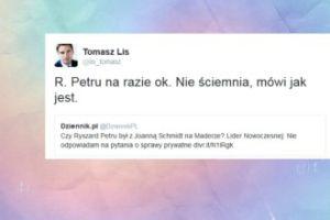 """Lis komentuje powrót Petru: """"Mówi jak jest"""""""
