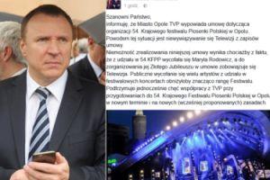 """Festiwal w Opolu został ODWOŁANY! """"Miasto wypowiada umowę"""""""
