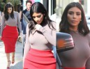 Kim Kardashian w BARDZO OBCISŁEJ bluzce... (ZDJĘCIA)