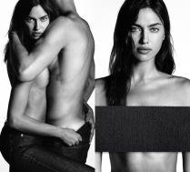 Irina Shayk topless reklamuje... dżinsy!