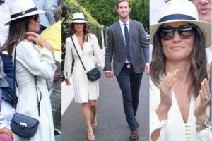 Skromna Pippa Middleton z mężem na Wimbledonie (ZDJĘCIA)