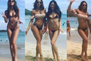 Marina i Sara wyginają się w bikini na Hawajach (ZDJĘCIA)
