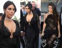 Wielkie dekolty Kardashianek na weselu (ZDJĘCIA)
