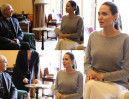 Angelina Jolie BEZ STANIKA na spotkanie z arcybiskupem (ZDJĘCIA)