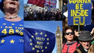 Londyńczycy protestują przeciwko wyjściu Wielkiej Brytanii z Unii Europejskiej (ZDJĘCIA)