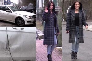 Rozbity Mercedes Węgrowskiej...