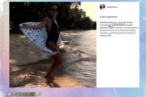 """Anna Mucha cieszy się z wakacji: """"Miesiąc na plaży"""""""