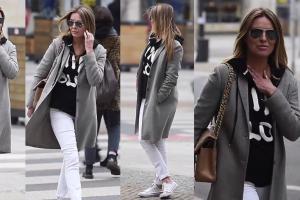 Hanna Lis w bluzie i trampkach. Wygląda na 46 lat?