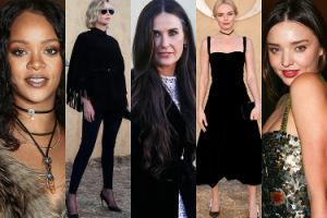 Rihanna, Charlize Theron i Demi Moore oglądają pokaz Diora w rezerwacie przyrody (ZDJĘCIA)