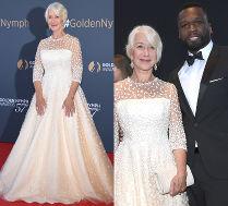 Helen Mirren w sukni ślubnej pozuje z 50 Centem