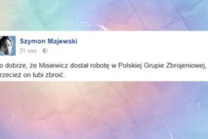 """Majewski wyśmiewa nowy etat Misiewicza: """"Przecież on lubi zbroić"""""""