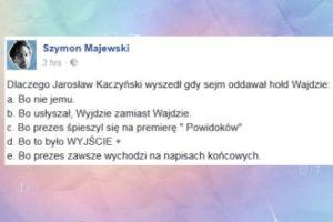 Szymon Majewski wyśmiewa Jarosława Kaczyńskiego