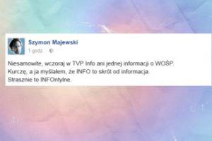 Szymon Majewski wyśmiewa TVP Info