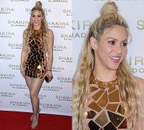 Shakira w sukience z lusterek promuje nową płytę