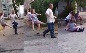 Dzieci biją pijanego na ulicy: