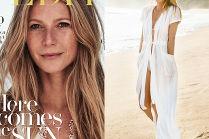 Piegowata Gwyneth Paltrow pozuje na plaży