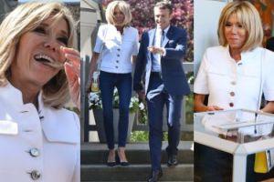 Emmanuel i Brigitte Macron w dżinsach głosują w wyborach parlamentarnych (ZDJĘCIA)