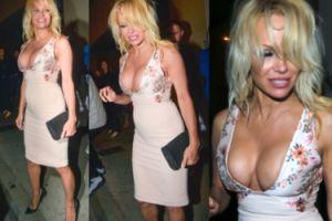 Biust 49-letniej Pameli Anderson na imprezie w Hollywood (ZDJĘCIA)