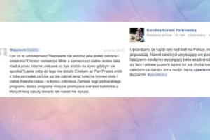 Gwiazdy życzą Korwin-Piotrowskiej zwolnienia z pracy?