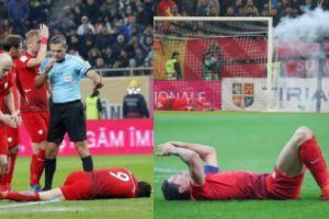 Mecz Rumunia-Polska: Lewandowski ogłuszony petardą!