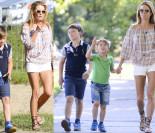 Lady Rozenek na spacerze z synami (ZDJĘCIA)