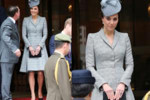 Ciężarna Middleton w kostiumie od Alexandra McQueena (ZDJĘCIA)