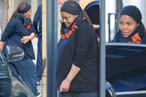 50-letnia ciężarna Janet Jackson wychodzi od lekarza w Londynie (ZDJĘCIA)