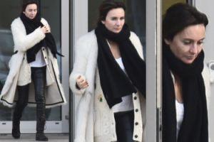 Dominika Kulczyk w białym futerku wychodzi z gabinetu medycyny estetycznej (ZDJĘCIA)