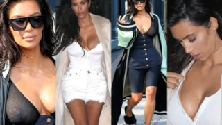 Piersi Kim Kardashian w dwóch stylizacjach. Która lepsza? (ZDJĘCIA)