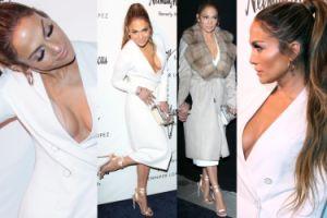 Jennifer Lopez z ogromnym dekoltem promuje buty... (ZDJĘCIA)