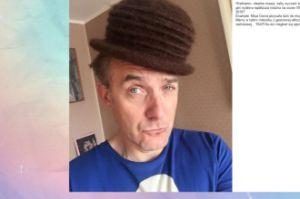 Hubert Urbański w moherowym kapeluszu