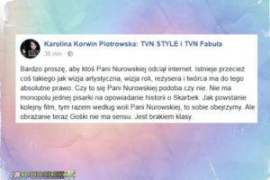 """Korwin Piotrowska: """"Proszę, aby ktoś Pani Nurowskiej odciął internet"""""""
