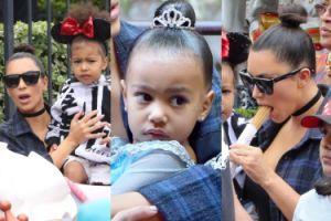 Kim bawi się z córką w Disneylandzie! (ZDJĘCIA)