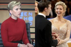 """Scarlett Johansson rozczarowana Ivanką Trump. """"Za każdym wielkim mężczyzną stoi wybitna kobieta? Jak staroświecka jest ta idea!"""""""