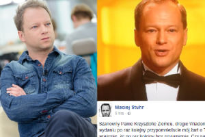 """Maciej Stuhr odpowiada """"Wiadomościom"""" za przypominanie jego żartu o Smoleńsku: """"To SKU***SYŃSTWO!"""""""