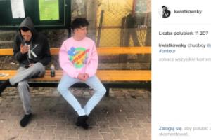 """Dawid Kwiatkowski pije PIWO na przystanku. """"Życie na krawędzi""""? (FOTO)"""