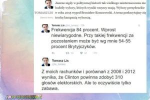 Tomasz Lis przepowiada wyniki wyborów