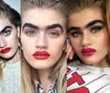 """Modelka z jedną brwią robi karierę na Instagramie: """"Twarz wygląda ładniej"""" (ZDJĘCIA)"""